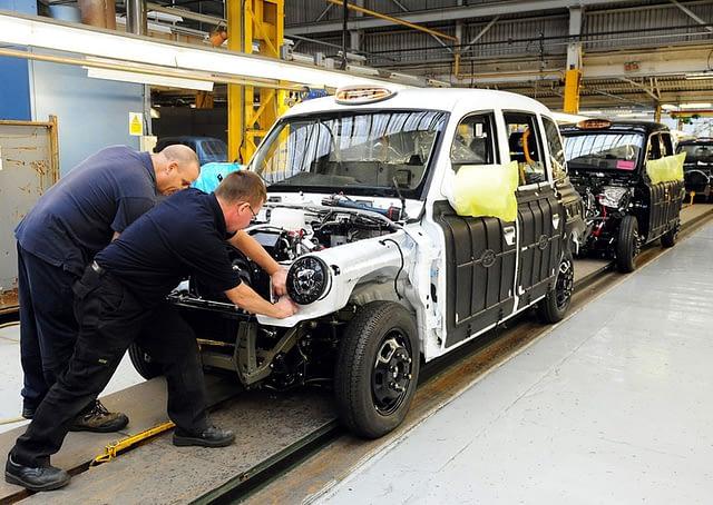 FX-4 gyártósor Coventryben