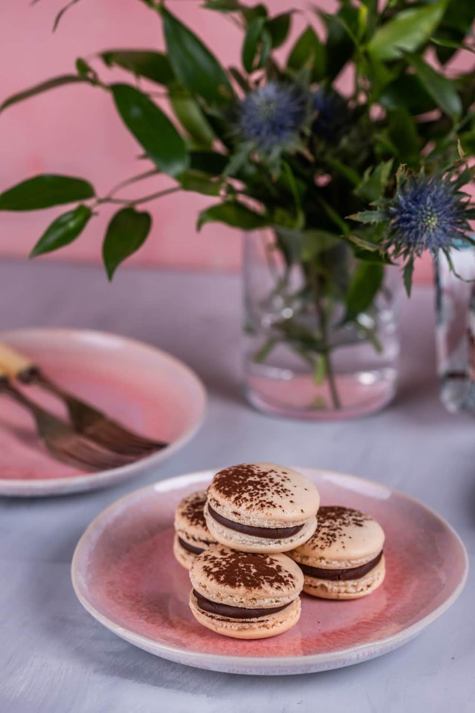 csokis-málnás macaron - francia sütik