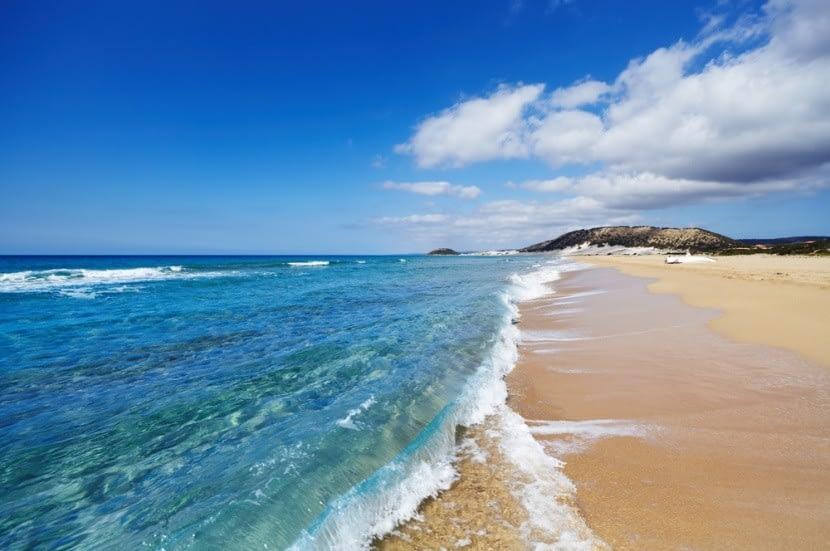 A Golden Beach Ciprus északi részén